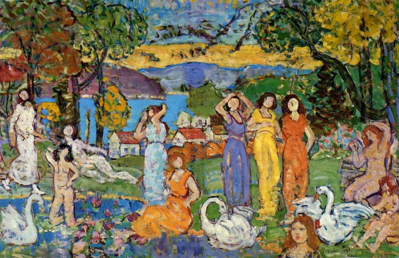 The Picnic | Maurice Prendergast | oil painting