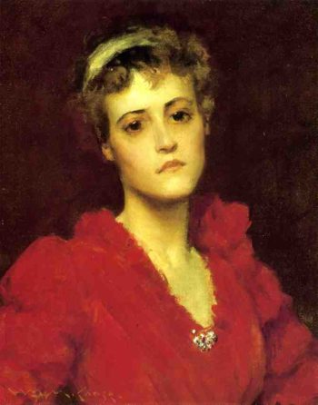 The Red Gown | William Merritt Chase | oil painting