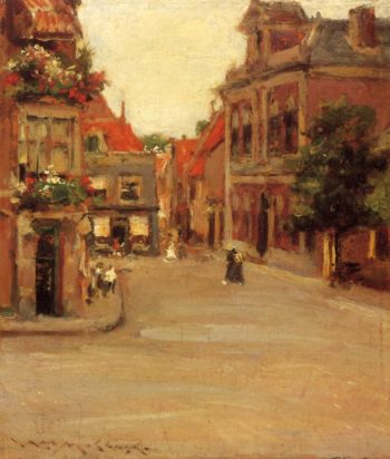 The Red Roofs of Haarlem | William Merritt Chase | oil painting