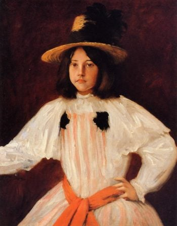 The Red Sash | William Merritt Chase | oil painting