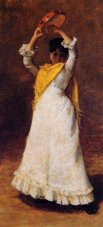 The Tamborine Girl | William Merritt Chase | oil painting