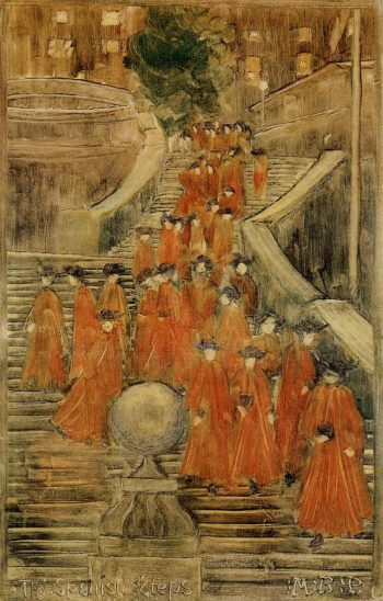The Spanish Steps | Maurice Prendergast | oil painting