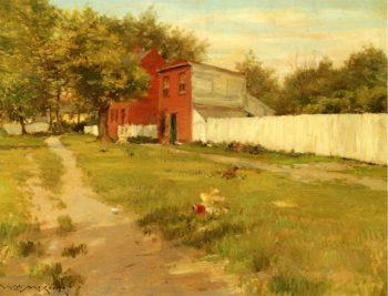 The White Fence | William Merritt Chase | oil painting