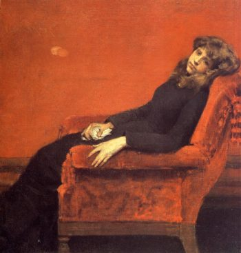 The Young Orphan Study of a Young Girl | William Merritt Chase | oil painting