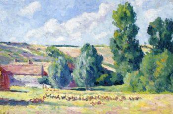 A Farm in Ezeaux | Maximilien Luce | oil painting