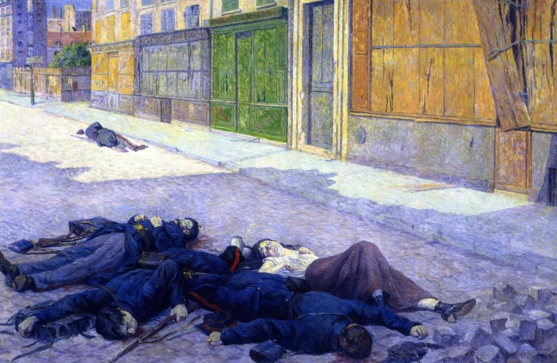 A Paris Street in May 1871   Maximilien Luce   oil painting