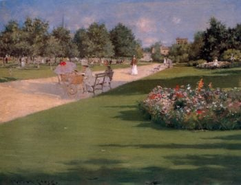 Tompkins Park Brooklyn | William Merritt Chase | oil painting