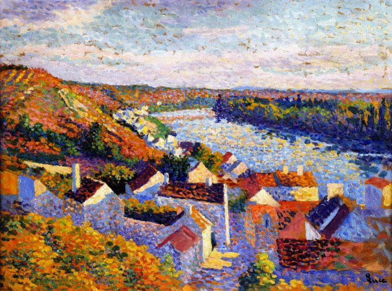 Bend in the River   Maximilien Luce   oil painting