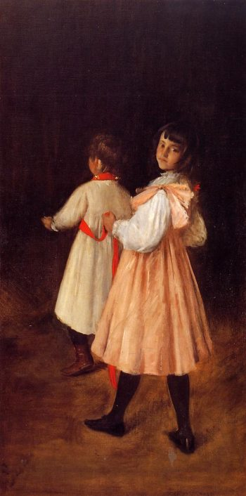 Two of My Children at Play | William Merritt Chase | oil painting