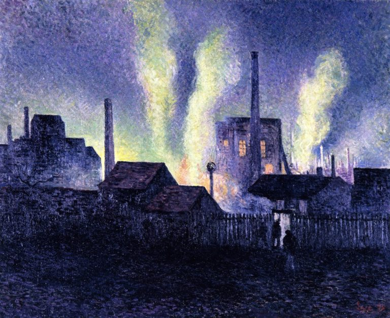 Blast Furnaces in Charleroi | Maximilien Luce | oil painting