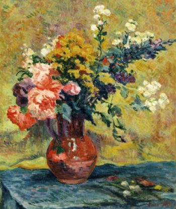 Bouquet of Flowers in a Vase   Maximilien Luce   oil painting