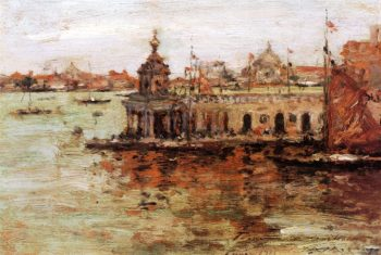 Venice View of the Navy Arsenal | William Merritt Chase | oil painting