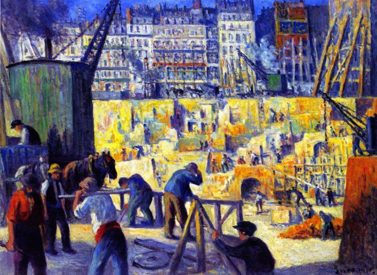 Building Site | Maximilien Luce | oil painting