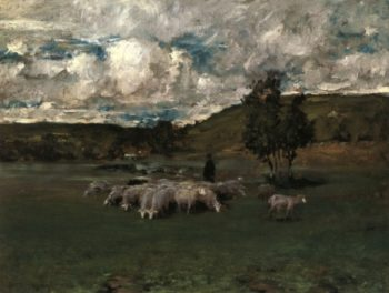 View near Polling   William Merritt Chase   oil painting