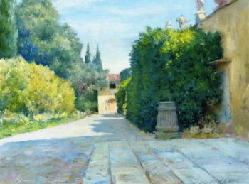 Villa in Florence   William Merritt Chase   oil painting