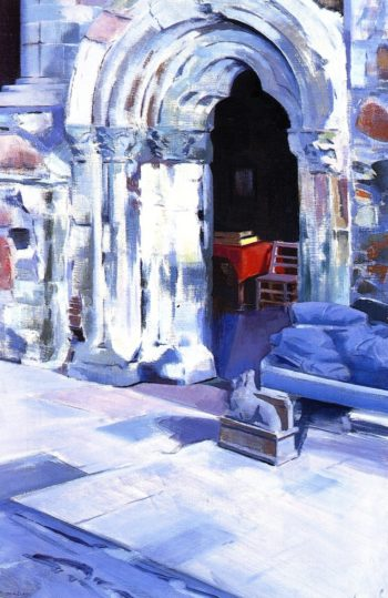 Interior of Iona Abbey | Francis Campbell Bolleau | oil painting