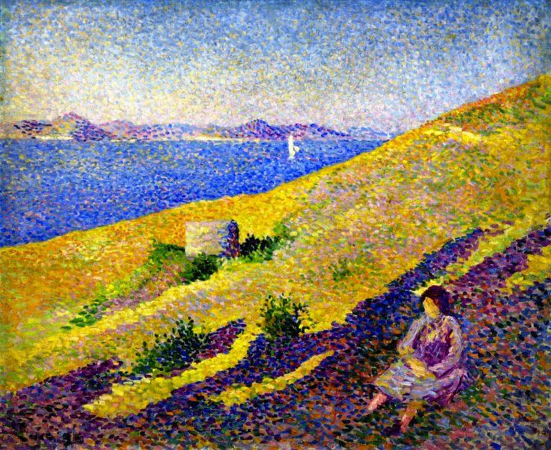 Citadel Hill at Saint Tropez | Maximilien Luce | oil painting