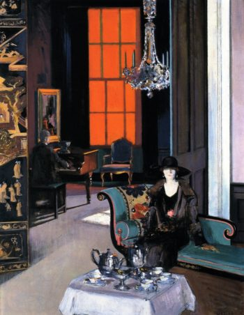 Interior The Orange Blind | Francis Campbell Bolleau | oil painting