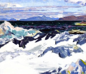 Island of Rum from Iona | Francis Campbell Bolleau | oil painting