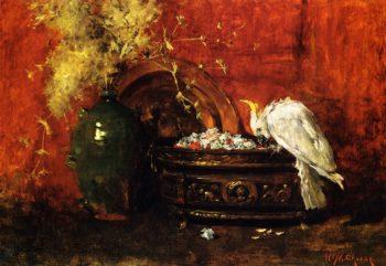 White Cockatoo | William Merritt Chase | oil painting