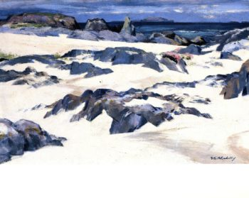 Lunga from Iona | Francis Campbell Bolleau | oil painting