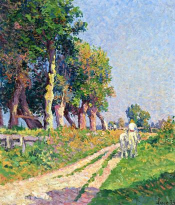 Eragny Horse on a Sunny Path | Maximilien Luce | oil painting