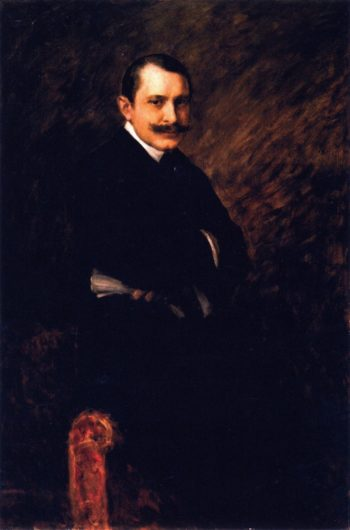 William Clyde Fitch   William Merritt Chase   oil painting