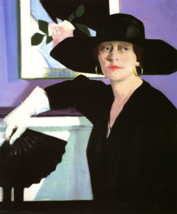 Portrait of a Lady in Black | Francis Campbell Bolleau | oil painting