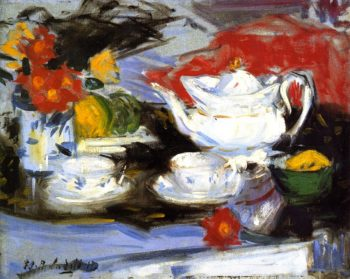 Still LIfe with White Teapot | Francis Campbell Bolleau | oil painting