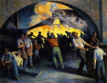 Foundry in Charleroi Casting | Maximilien Luce | oil painting