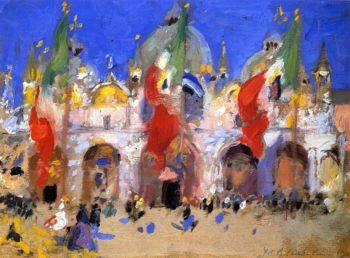 St Mark's Square Venice | Francis Campbell Bolleau | oil painting