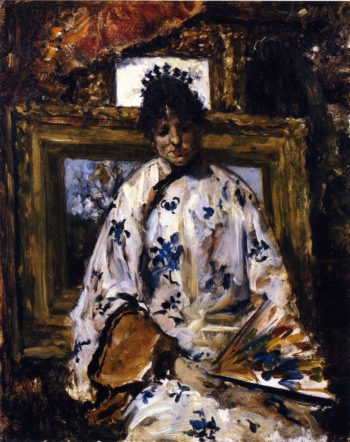 Woman in a Chinese Robe | William Merritt Chase | oil painting