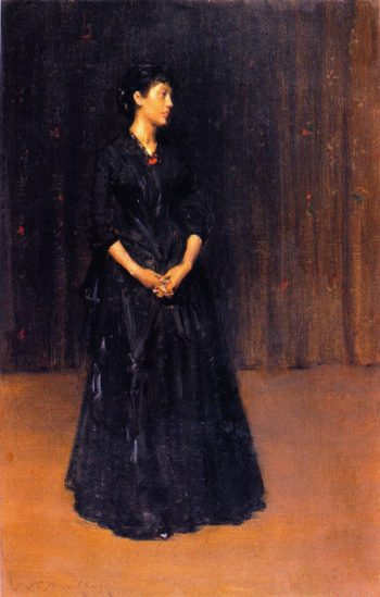 Woman in Black | William Merritt Chase | oil painting