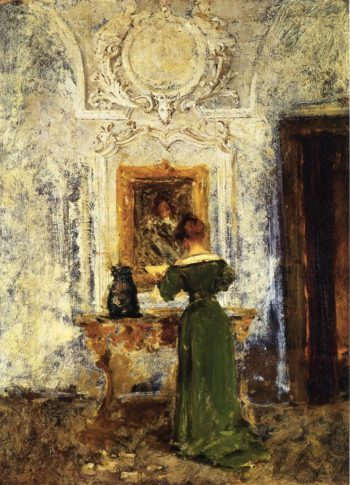 Woman in Green   William Merritt Chase   oil painting