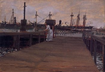 Woman on a Dock | William Merritt Chase | oil painting