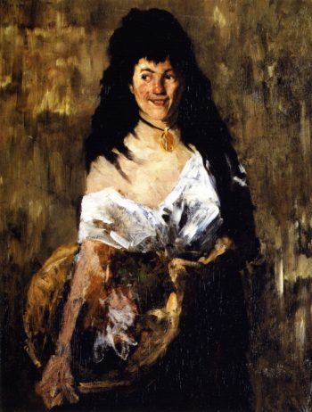 Woman with a Basket | William Merritt Chase | oil painting