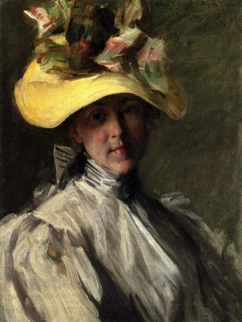 Woman with a Large Hat | William Merritt Chase | oil painting
