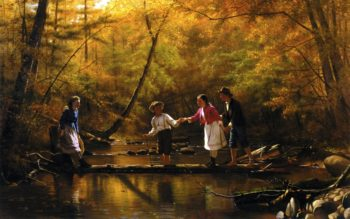 Country Gallants | John George Brown | oil painting