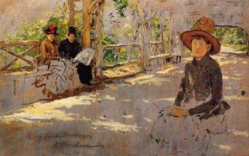 Women under Trellis | William Merritt Chase | oil painting