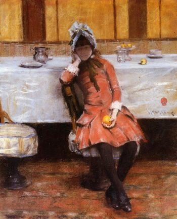 Young Girl on an Ocean Steamer | William Merritt Chase | oil painting
