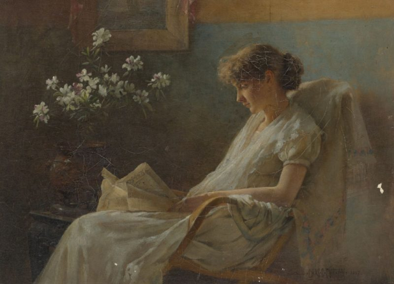 A Comfortable Corner | Charles Courtney Curran | oil painting