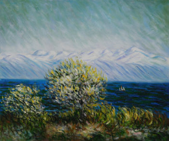 View of the Bay at Antibes and Maritime Alps | Claude Oscar Monet | oil painting