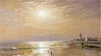 Along the Beach Towards Sunset | William Trost Richards | oil painting