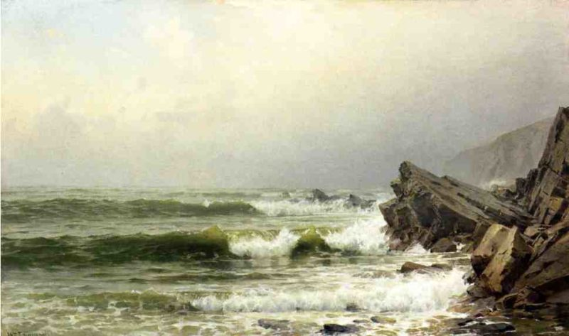 A Misty Morning on the Channel Coast England | William Trost Richards | oil painting