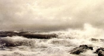A Storm | William Trost Richards | oil painting