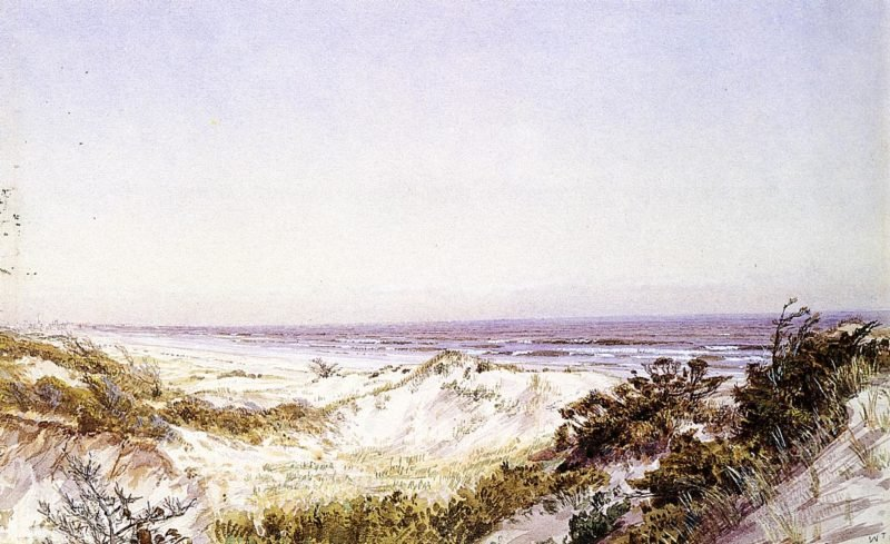 Atlantic City Beach Dunes and Grass | William Trost Richards | oil painting
