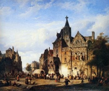 Cityview | Cornelius Springer | oil painting