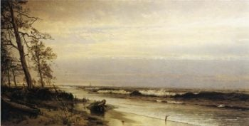 Atlantic City Shoreline | William Trost Richards | oil painting