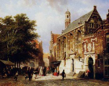 City view | Cornelius Springer | oil painting