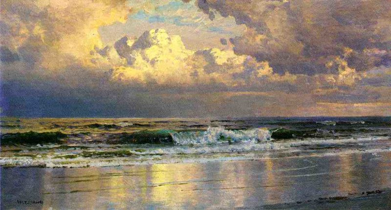 Beach at Atlantic City   William Trost Richards   oil painting